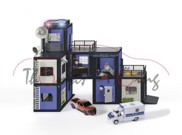 00000 SIKU WORLD Polizeistation, Mercedes-Benz Sprinter m. Kofferaufbau + RAM 1500, L18 ab 9/20 da