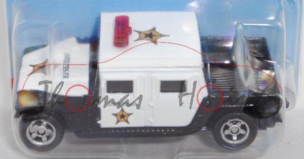 00003 US-Polizei (vgl. Hummer H1 Typ 4-door open top, Mod. 92-06), weiß/schwarz, STATE POLICE, P28eE