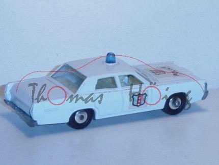 Mercury Police Car, weiß, POLICE, mit Fahrer und Beifahrer, Matchbox Series