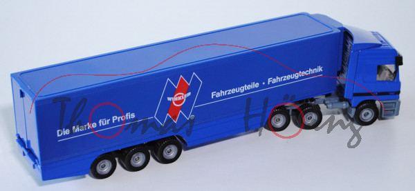 Mercedes Actros LH 1857 Koffer-Sattelzug, ultramarinblau/mausgrau, Die Marke für Profis WINKLER ® Fa