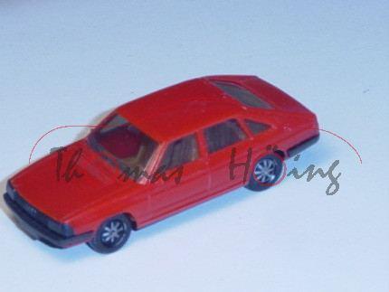 Audi 100 GL 5E Avant, Typ 43, Mj. 1977, verkehrsrot, Herpa, 1:87