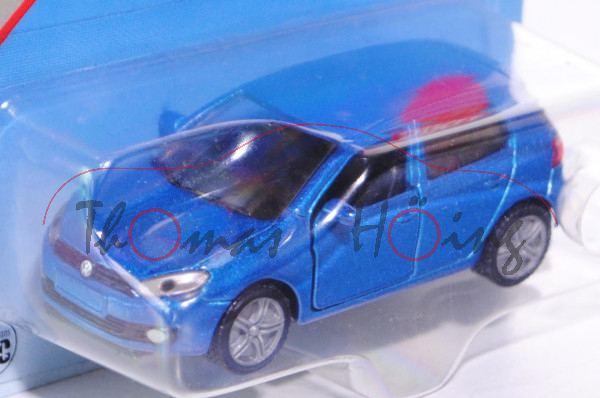 00000 VW Golf VI 2.0 TDI (Typ 1K, Modell 2008-2012), verkehrsblaumetallic, innen schwarz, Lenkrad sc