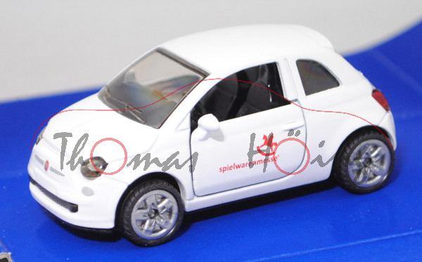 00401 Fiat 500 1.2 8V (Typ 312, Modell 2007-2015), weiß, spielwarenmesse®, Werbebox (Edition 2017)