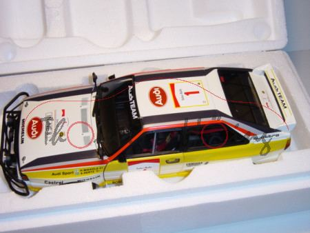 Audi Quattro, Safari Rallye 1984, Mikkola/Hertz, Nr. 1, AutoArt, 1:18, mb