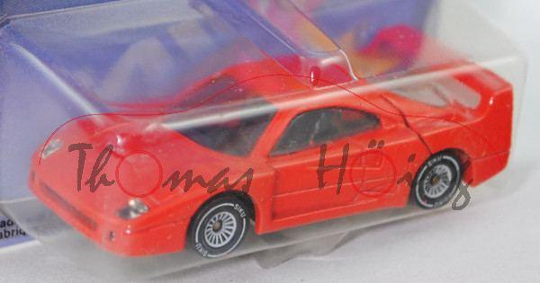 00000 Ferrari F40 (Modell 1987-1992), verkehrsrot, innen schwarz, Lenkrad schwarz, Chassis chrom, W-