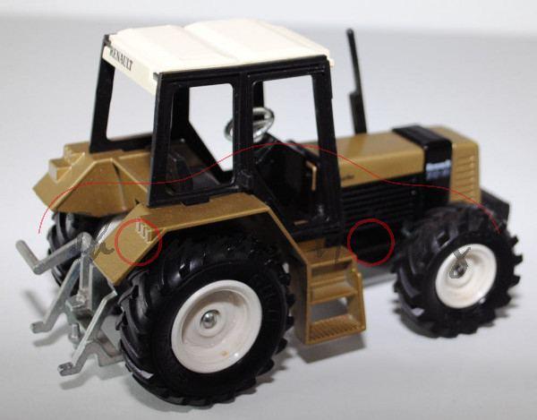 renault traktor tx 145 14 gold schwarz auspuff geklebt. Black Bedroom Furniture Sets. Home Design Ideas