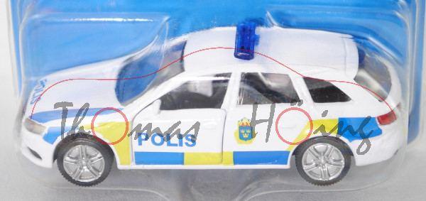 03000 S Audi A4 Avant 3.0 TDI quattro (B8, Mod. 08-11) Schwedische Polizei,weiß, POLIS, P29e