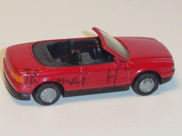 Audi Cabriolet 2.3E (B4, Typ 8G, Modell 1991-1994), verkehrsrot, innen schwarz, Lenkrad schwarz, B6,