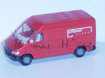 00301 Mercedes-Benz Sprinter (T1N, Baureihe W 901) Kastenwagen Postwagen, Modell 1995-2000, hellrot,