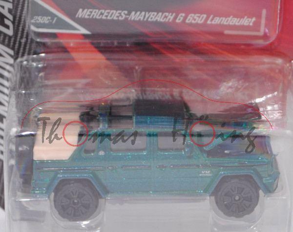 Mercedes-Maybach G 650 Landaulet (Modell 2017), hell-signalgrünmetallic, majorette, 1:61, Blister