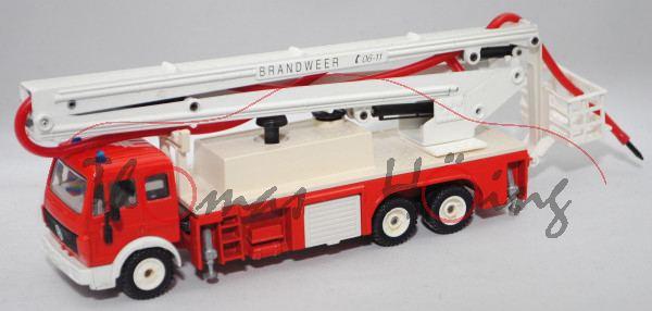 00300 NL MB SK (Mod. 89-94) Feuerwehr mit Gelenkarmbühne, rot/weiß, BRANDWEER, Spritze fehlt