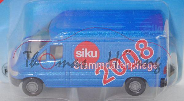 MB Sprinter (T1N, Mod. 95-00) Hochdach-Kastenw. Postwagen, blau, siku / Stammdatenpflege / 2008, P29