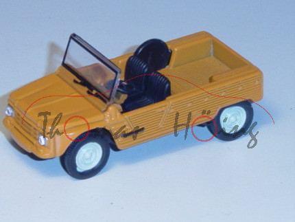 Citroen Méhari, Modell 1968-1987, gelborange, 1:54, Norev RETRO, mb