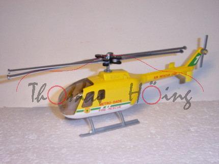 Polizei-Hubschrauber BO 105, kadmiumgelb/weiß, METRO-DADE FIRE-RESCUE AIR RESCUE ONE, GB, L14a