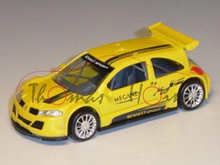 Renault Megane Trophy 2005, verkehrsgelb, MEGANE TROPHY / RENAULT SPORT, 1:50, Norev Racing, mb