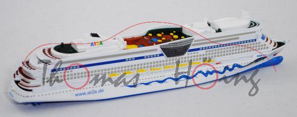 Panamax-Kreuzfahrtschiff AIDAluna (Baureihe Sphinx-Klasse, Baunummer S.660, Modell 2009-), reinweiß,