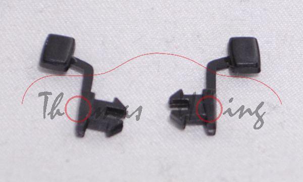 1 Stück Spiegelpaar rechts und links, schwarz, Spiegelflächen unlackiert, SIKU SUPER 1:55
