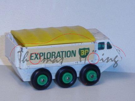 Alvis Stalwart, weiß, BP EXPLORATION, abnehmbare zinkgelbe Plane, Matchbox Series