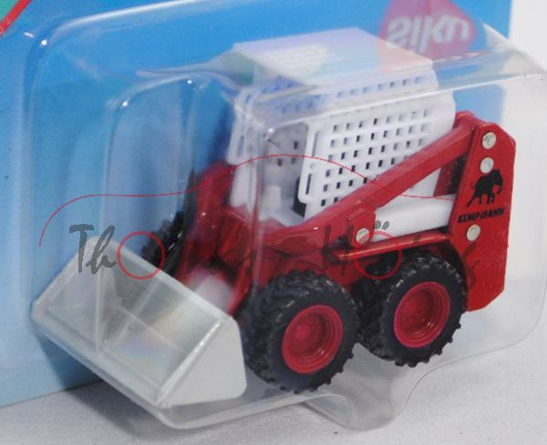 00001 Bobcat®-Kompaktlader, reinweiß/karminrot/hell-lichtgrau, Sitz schwarz, KEMPMANN, C37a rot, SIK