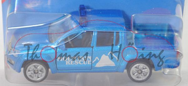 00007 VW Amarok (Mod. 10-16) Bergrettung, blaumet., MOUNTAIN / RESCUE, hohe Blaulichtleiste, P29e