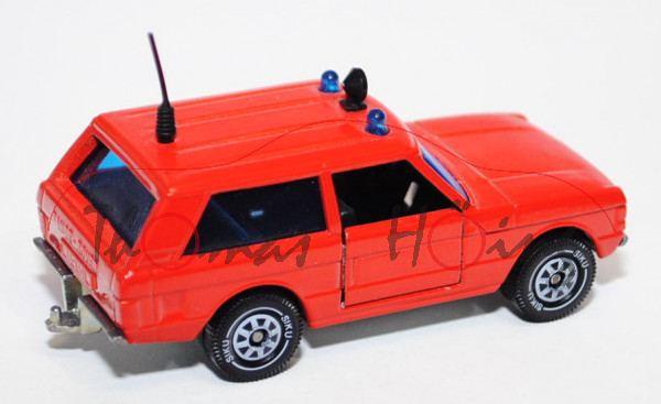 Range Rover «Classic» Dreitürer (Modell 1970-1985) Feuerwehr-Vorausrüstwagen, feuerrot, innen schwar