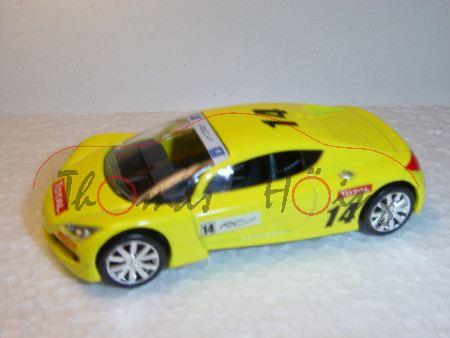 Peugeot RC, gelb, TOTAL, Nr. 14, Norev Racing, 1:50, mb