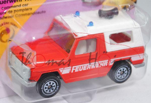 00001 Mercedes-Benz 280 GE (Typ W 460, Modell 1980-1990) Feuerwehr-Kommandowagen, hell-verkehrsrot,