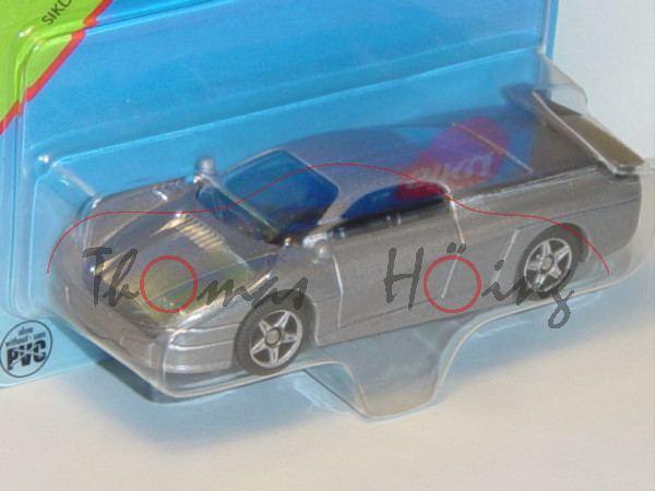 00005 SIKU STORM (vgl. Saleen S7, Modell 2000-2008), hell-graualuminiummetallic, innen schwarz, Lenk