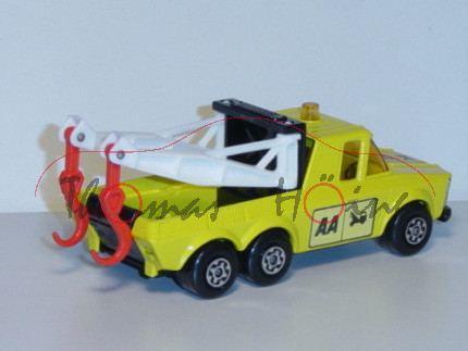 Pick-Up Truck, zinkgelb/weiß/schwarz, Aufkleber AA auf den Türen und auf der Motorhaube, Matchbox Su