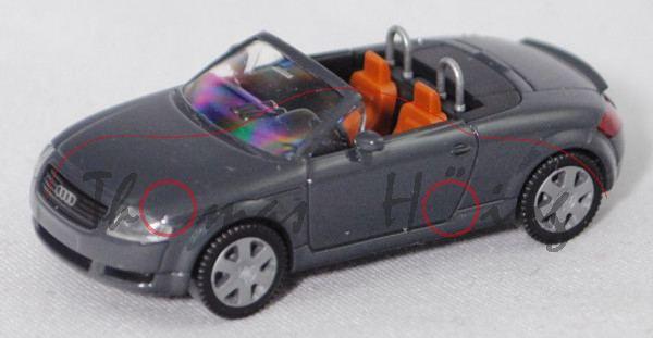 Audi TT Roadster 1.8 T quattro (Typ 8N, Facelift 2000, Mod. 2000-2006), nimbusgrau, Wiking, 1:87, mb