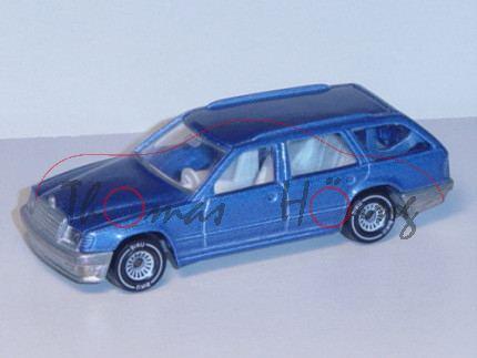 Mercedes-Benz 300 TE (Baureihe S 124), Modell 1985-1986, violettblaumetallic, B4, Chassis chrom, Ger