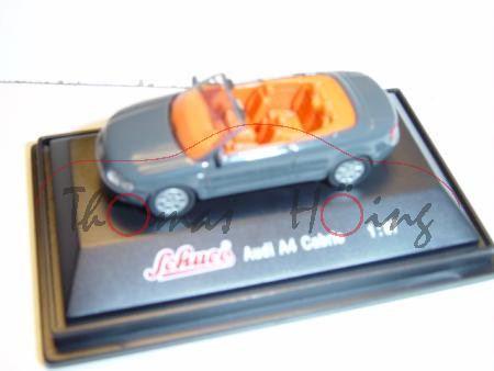 Audi A4 Cabrio, Mj. 2003, mausgrau, Schuco, 1:87, mb