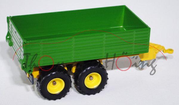 Tandem-Anhänger, smaragdgrün/gelb, L15