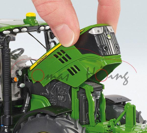 John Deere 6125R mit Frontlader, smaragdgrün/zinkgelb, 1:32, Wiking, mb