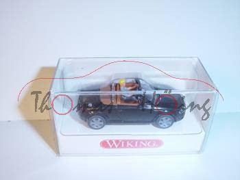 Audi TT Roadster, schwarz, mit Fahrer, Wiking, 1:87, mb