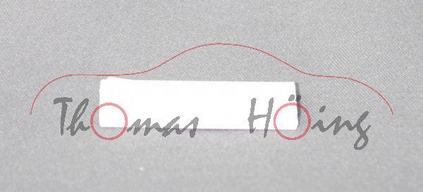 1 Stück Trage, weiß, z.B. für Art.-Nr. 1630 / 1718 / 1928 / 1931 / 2538 / 2539, SIKU SUPER, ca. 1:55