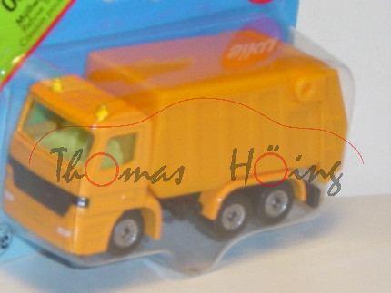 Mercedes Actros Müllwagen, melonengelb, ohne Stern im Grill, P28