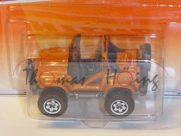 Cliff Hanger, orangenbraunmetallic, 4x4, Matchbox, Blister