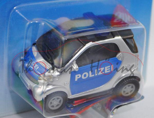 00000 Smart fortwo Coupé (Typ C 450, Modell 1998-2002) Polizei, weißaluminiummetallic/hell-ultramari