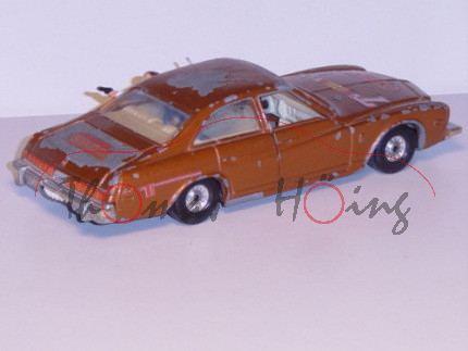 Buick Regal, kupferbraunmetallic, Vordertüren zu öffnen, mit Figur hinten, CORGI TOYS, 1:36, Modell