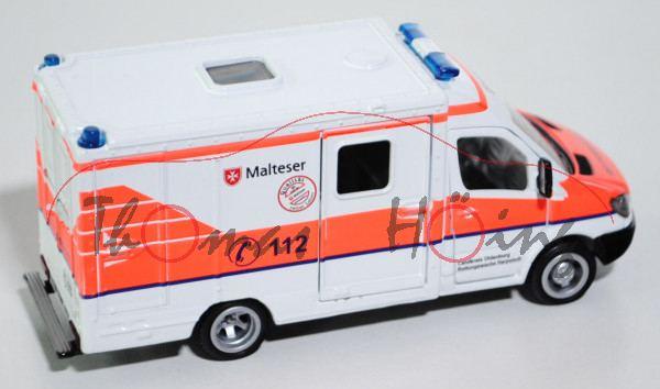 Mercedes Sprinter II 213 CDI / 313 CDI Rettungswagen (NCV 3, Typ W 906), Modell 2006-, reinweiß, Mal