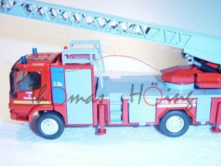 00600 Mercedes Feuerwehrdrehleiter, rot, FIRE & RESCUE, L17, GB