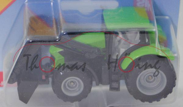 00000 DEUTZ-FAHR 7250 TTV Agrotron (Modell 2016-) mit Frontlader, gelbgrün, SIKU, P29e