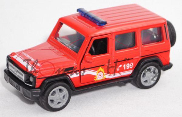 00901 GR Mercedes-Benz G 65 AMG (Mod. 2012-2015) Fire Brigade, rot/weiß, C 199, SIKU, 1:50, L17mpK