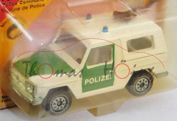 Mercedes-Benz 280 GE (Typ W 460, Modell 1980-1990) Polizei-Geländewagen, reinweiß/minzgrün innen lic