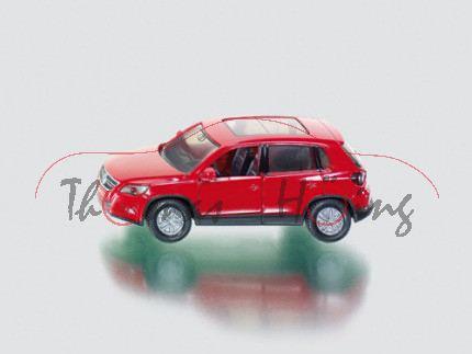 00000 VW Tiguan I 2.0 TDI (Typ 5N), Modell 2007-2011, karminrot, innen schwarzgrau, Lenkrad schwarzg