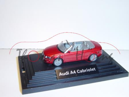 Audi A4 Cabrio, Mj. 2005, granatrot, Wiking, 1:87, PC-Box