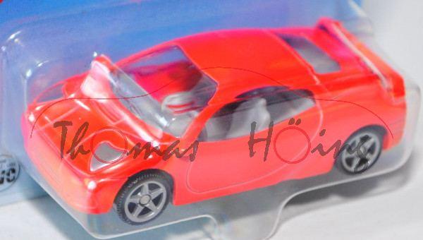 00000 SIKU THUNDER (vgl. Ferrari F 430, Modell 2004-2009), hell-leuchtrot, innen lichtgrau, Lenkrad