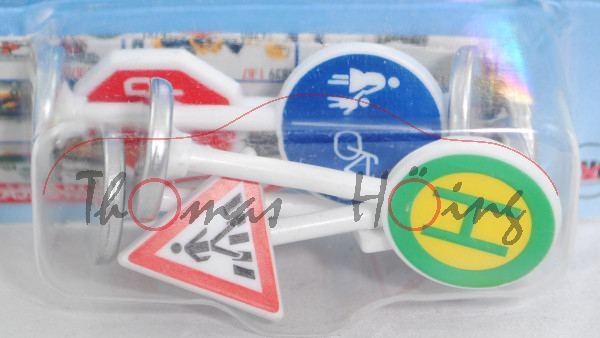 6 Stück Verkehrszeichen, Inhalt: Fußgängerüberweg (Nr 134), STOP Halt! Vorfahrt gewähren! (Nr 206),