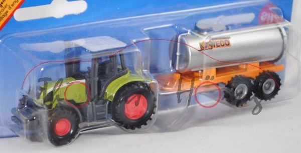 CLAAS ARES 697 ATZ (Mod. 05-07) mit Vakuum-Fasswagen, weiß/claasgrün/grau, C40 rot/C41 rot, Fasswage